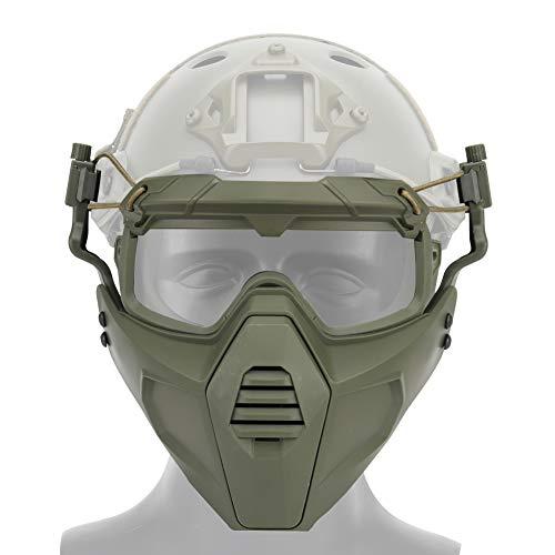 OAREA Fast Helm Schutzbrille Brille mit Abnehmbarer Gesichtsmaske Passend für Airsoft Paintball Halloween Party