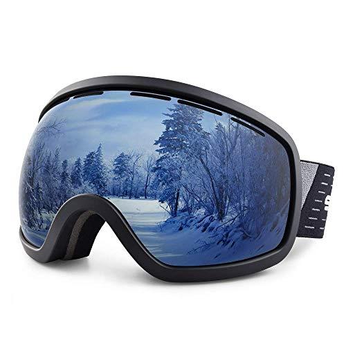 DHINGM Skibrille, hochwertige PC +, Doppelobjektivschutz CA + UV400, zu verhindern, Augenschäden, verursacht durch Starke Sonneneinstrahlung oder Ultraviolett (Blackbox transparente Folie)