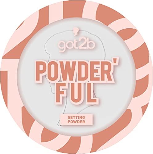got2b Setting Powder Transparent, mattierendes und fixierendes Puder, mit Weichzeichner Effekt für minimiert aussehende Poren, 9 g