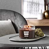 Nature's Wick Bonfire Nights Scented Candle|18 oz. 3 Wick Jarred Candle|Natural Wood Wick Candle with up to 48 Hour Burn Time