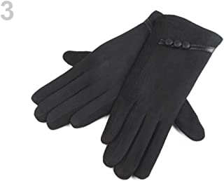 1pr 3 (vel.l) Black Ladies Touch Screen Gloves, Fall and Winter, Fashion Accessories