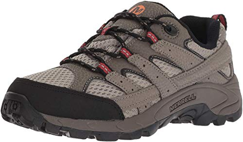 Merrell unisex child M-moab 2 Low Lace Hiking Shoe, Bark Brown, 4.5 Big Kid US
