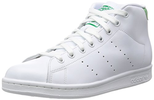 Adidas Stan Smith Mid Scarpe a collo alto, Uomo, Bianco (Ftwwht/Ftwwht/Green), EU 38 (UK 5)