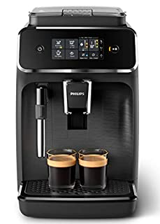Philips Serie 2200 EP2220/10 Macchina da Caffè Automatica, 2 Bevande, con Macine in Ceramica, Filtro AquaClean, Pannarello Classico, 15 bar, 1500 W, 1.8 Litri, Nero Satinato (B07MMSHC4R) | Amazon price tracker / tracking, Amazon price history charts, Amazon price watches, Amazon price drop alerts