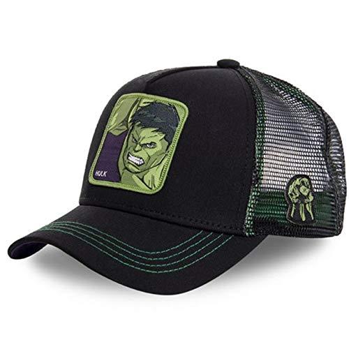 Nueva Gorra de béisbol de algodón con Snapback de Dibujos Animados para Hombres y Mujeres, Gorra de Camionero de Hip Hop para papá-Hulk