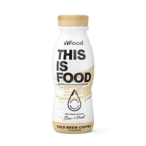 YFood Kaffee   Laktose- und glutenfreier Nahrungsersatz   22g Protein, 26 Vitamine und Mineralstoffe   Leckere Astronautennahrung - 17% des Kalorienbedarfs   Trinkmahlzeit, 8 x 330 ml (1 kcal/ml)