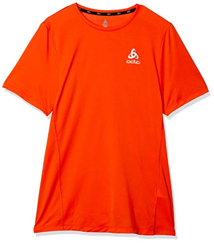 Odlo Element Light Crew Neck T-Shirt pour Homme Rouge Mandarine Taille S