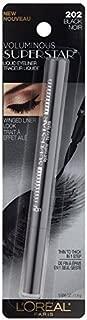 L'Oreal Paris Voluminous Superstar Liquid Eyeliner Pen, Black [202] 0.056 oz (Pack of 4)