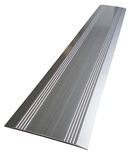 FabaCare Aluminiumprofil Türschiene, Alu Profil, Türleiste, Türschwelle, Schiene, Schwellenrampe, 3 x 150 x 1000 mm