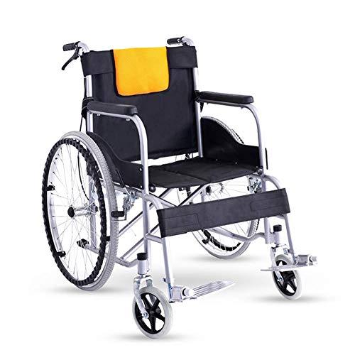 OSL Silla de ruedas plegable ligera, conducción médica, silla de ruedas, cochecito para ancianos, motocicleta vieja, viajes para discapacitados Cómodo OSL