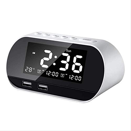 Klok Leuke Alarm Pretty Led elektronische Prachtige Digitale smart FM-radio Leuke Alarm thuis subwoofer horloge kalender temperatuur