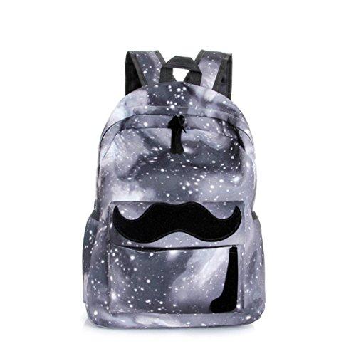 womail mujeres Galaxy Barba estudiante bolso bandolera escuela viaje mochila para niña