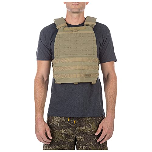 5.11 TacTec Tactical Weighted Fitness & Workout Vest, Lightweight & Resistant Nylon, Adjustable Waist XS-XL, Style 56100, Sandstone