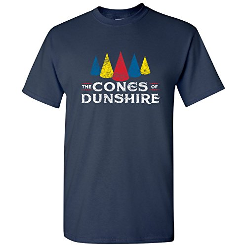 Cones of Dunshire - Funny Ben Board Game Parody T Shirt - X-Large - Navy