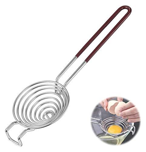Separador de yema de huevo de acero inoxidable, filtro de huevo Filtro de claras de huevo y colador divisor de yemas, utensilios de cocina Herramientas para hornear - Removedor de yema de acero inoxid