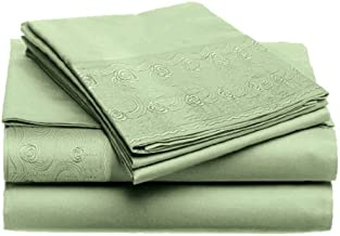 CASUAL ELEGANCE Rielle-Lace TWIN 3pc Sheet Set, 4-CELAR-403, SAGE