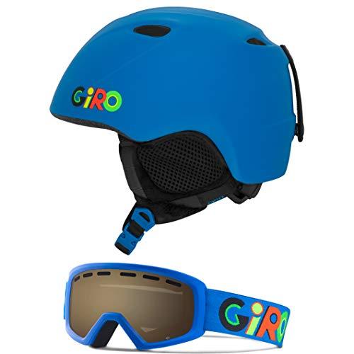 Giro Slingshot Kids Snow Helmet Goggle Combo Matte Matte Blue Wild/Wild Boyz M/L (52-55.5CM)