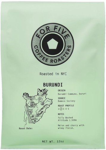 For Five Coffee Roasters - Roasted In NYC 12 oz (Burundi, Whole Bean)