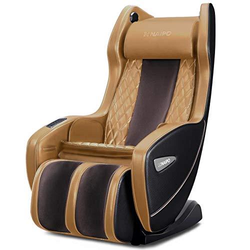 Naipo Massagesessel Shiatsu Massagestuhl mit Wärmefunktion, Klopfen, Kneten, Bluetooth, S+L-förmige Design, Luft-Massage-System, Liegeposition Verfügbar, Platzsparend, Für Zuhause und Büro