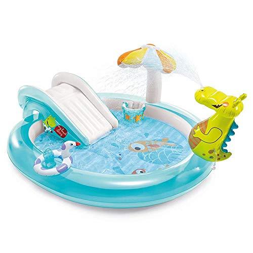 Planschbecken Krokodilbecken PVC Haushalt Aufblasbarer Spielzeugpool für Kinder Kinderrutsche Wasserpark für Kleinkinder im Alter von 3-5 Jahren