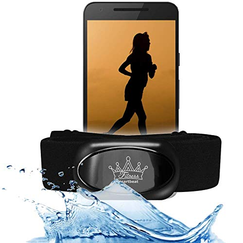 bestbeans Heartbeat 2021 Swim Triathlon Bluetooth Low Energy & ANT+ Herzfrequenzmesser kompatibel mit RUNTASTIC Wahoo Sensor für Garmin Polar Fitnessstudio Schwimmen