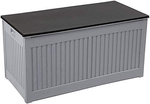 Olsen & Smith 270L Kissenbox Gartenbox Gartentruhe Tisch Stühle Lagerung Innen- und Außenbereich 107 x 51 x 53 cm