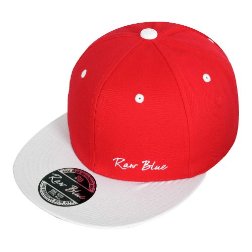 Raw Blue Basic Signature Snapback in Red / White
