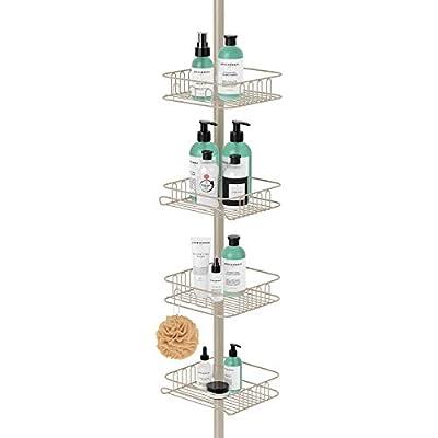 SeiriOne Square Tension Corner Shower Pole Caddy
