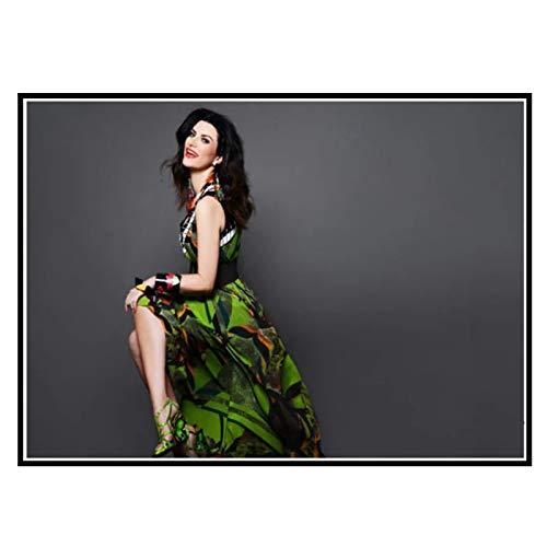 Swarouskll Voz femenina principal de la música pop Laura Pausini arte pared lienzo póster impresión sala de estar decoración del hogar -50x70cm sin marco 1 Uds
