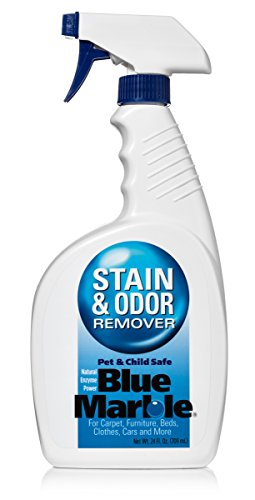 Eliminates Odors – Removes Urine: Professional Strength Blue Marble Stain & Odor Remover's Natural Enzymes Effectively Gets Rid of Organic Odors and Stains Caused by People, Cats and Dogs: GUARANTEED!