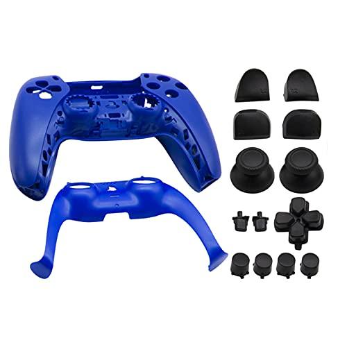 Homyl Shell de substituição para PS5, DIY Substituição Do Controlador Shell Habitação Case Cover Defina para Controladores de 5 Dualsense - Azul escuro