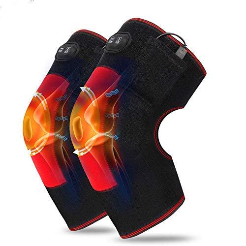 GHzzY Genouillère chauffante électrique - Enveloppe de genouillère chauffante pour l'arthrite, Les rhumatismes, Les Varices et Les douleurs articulaires (1 Paire)