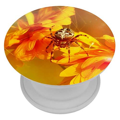 Yuzheng Spinnen-Chrysantheme Sun Golden Faltbarer, ausziehbarer Haltergriff mit austauschbarem Handy-Fingerhalter für alle Smartphones und Tablets 4cm