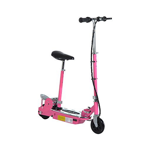 HOMCOM 120W Pink Electric Scooter