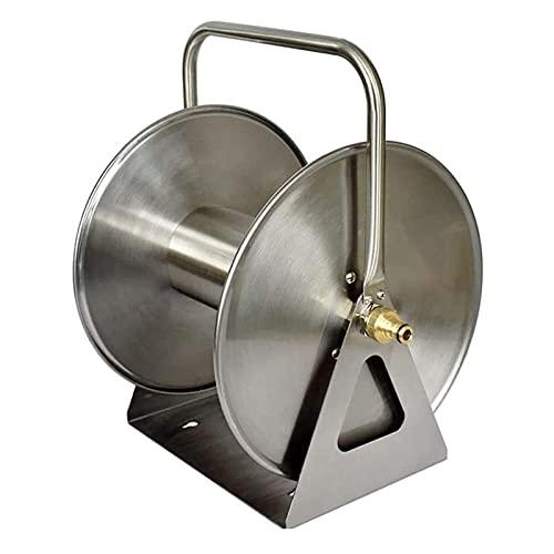Dpliu Carrete de Manguera de jardín de Metal de Montaje en Pared, Caja de suspensión de Acero Inoxidable portátil para la Limpieza de Patio de automóviles y Patio (Size : 40m Water Pipe)