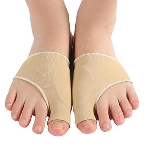 feifanshop Hallux Valgus Bandage mit Eingebaut Gel-Pad Zehenschutz, Schiene Nachtschiene Socken Zehen orrektur Bunion Sleeve Night Splint for Schmerzlinderung, 1 Paar