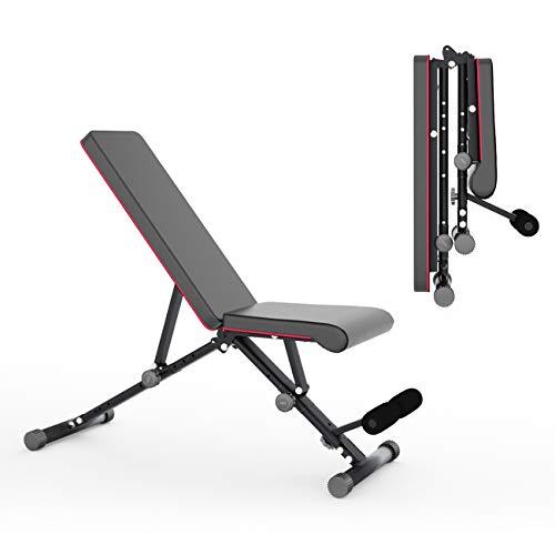 DlandHome Home Gym Adjustable Dumbbells Bench Weight Bench Adjustable Folding Sit Up Incline Exercise Dumbbell Bench Height Adjustable, Multi-Functional Strength Training, SJ-Z70-DCA