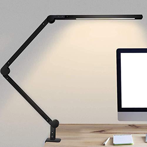 デスクライト JOLY JOY LEDデスクスタンド クランプ付き アームライト 平面発光 調光 調色 省エネ 電気スタンド タイマー、メモリ、タッチセンサー 折りたたみ式 視力ケア テーブルランプ 卓上ライト ブラック