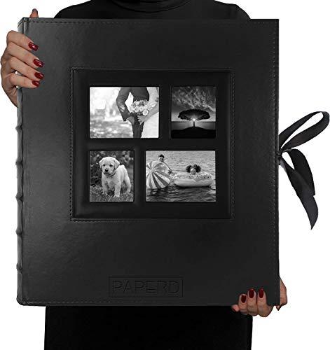 Album Photo 10X15-11x15 Grand Format - 500 Photos - Qualité supérieure & Album Traditionnel + Coffret de Rangement élégant - Façade Avant Personnalisable