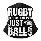 Overlooked Shop Neck Gaiter Rugby Cool Tshirt - Pas de Casque Pas de Coussinets Juste des balles Masque Facial Cache-Cou Cagoule multifonctionnelle Bandana Outdoor