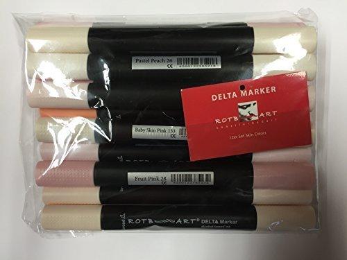 DMSS-OT - Delta Marker, 12er Set Skin Colors. Die bewährten, innovativen Twin/Zwilling Marker - mit einer breiten und einer feinen Spitze!