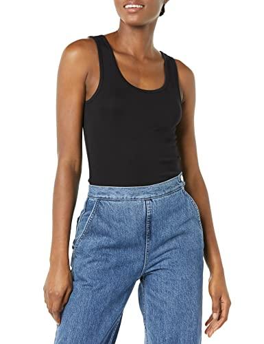 Amazon Essentials 2-Pack Tank Camisa, Multicolor (Black/White), XX-Large (Talla del fabricante:):)