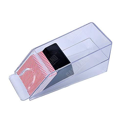 Profesional Baccarat Poker Dealer-Poker Card Shoe 1-4 Opcionalmente Adjunto (Transparente)
