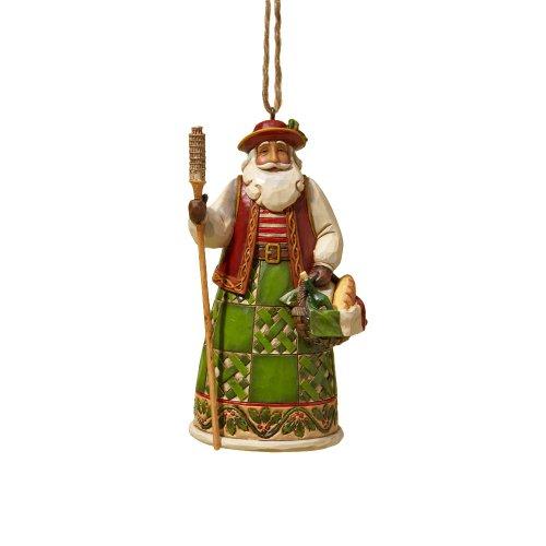"Jim Shore Heartwood Creek Italian Santa Stone Resin Hanging Ornament, 4.6"""
