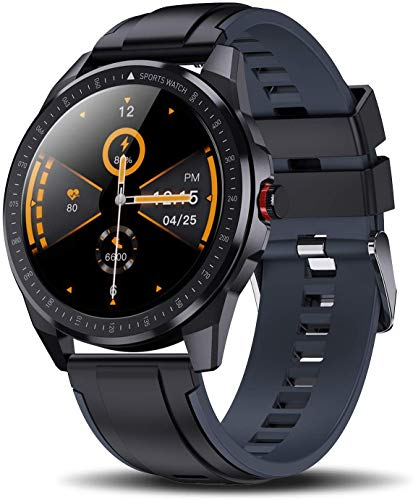 Yocuby Smartwatch Uomo, Fitness Tracker con FrequenzaCardiaca e Contapassi,Bluetooth Smart Watch Conta Calorie Touchscreen, Impermeabile IP68 Sportivo Activity Tracker per iOS/Android (Nero)