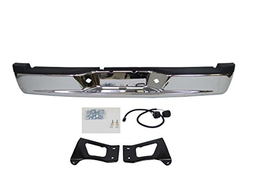 FOR 2005-2011 Dodge Dakota Rear Step Bumper Full Assy Chrome (Oem Type) (With Bumper Pad, License Lamp, with Brackets) CH1103113