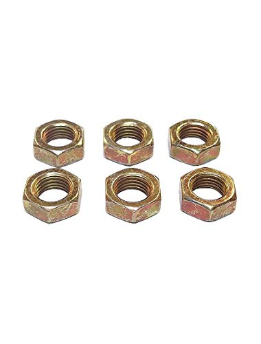QSC 3 Max 48% Max 88% OFF OFF 8-24 Steel Left Hand Gold Plated Nut Zinc 6-Pack Jam