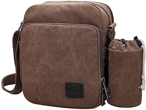 Gaocheng Schoudertas Pack Multifunctionele Canvas Crossbody Messenger Bag Sling Bag Draagbare Rits Rugzak Fanny Pack Lichtgewicht Outdoor Fietsen Reizen Dagtas voor Mannen en Vrouwen