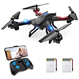 Snaptaⅰn S5C WiFi FPV Drone with 2K Camera,Voice Control, Wide-Angle Live Video RC Quadcopter with Altitude Hold, Gravity Sensor Function, RTF One Key Take Off/Landing, Compatible w/VR Headset
