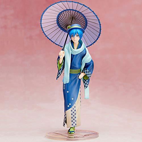SDFDSSR Hatsune Miku Fujiwara Kimono Big Brother Coloreed Ropa de PVC Material Anime Figura Modelo Toys Boxed Toys Regalos